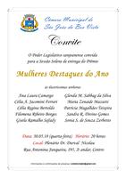 Câmara convida população para Sessão Solene de entrega do Prêmio Mulheres Destaques do Ano