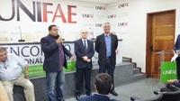Presidente e Vereadora acompanham visita do Senador Major Olímpio na Unifae
