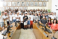 Estudantes da escola Teófilo de Andrade visitam a Câmara e aprendem sobre funções do Poder Legislativo